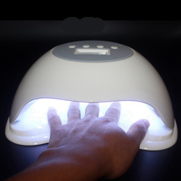 Diy Fingernail Art Australia - Professional SUN 60W Nail Dryer LED UV Lamp Gel Fingernail Polish Toenail Curing DIY Nail Art Painting Salon Tools 365+405nm