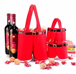 Red Christmas Present Bag Xmas Santa Claus Decor Candy Wine Bottle Navidad Natal Decorations Home Party Presents Decoration from flash drive power suppliers