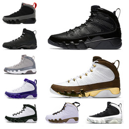 Mop gold online shopping - 9 s mens basketball shoes Bred LA Mop Melo Anthracite Black white the spirit Cool Grey Lakers PE men sports trainers designer Sneakers