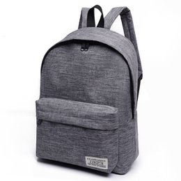 Discount college bags for girls laptop - 2018 Brand Canvas Men women Backpack College Students High Middle School Bags For Teenager Boy Girls Laptop Travel Backp