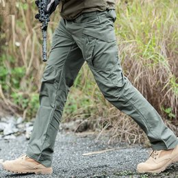 mens fashion combat trousers 2019 - Tactical Cargo Pants Mens Special Forces Tactico SWAT Hunter Army Military Pants Pantalon Militaire Clothes Combat Trous