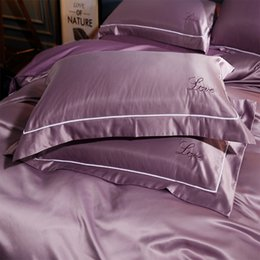 China Luxury Embroidery 100 %Pure Mulberry Silk Pillow Case With Cotton Solid Color Pillow Cover Super Soft Couple bed Pillowcase supplier pure silk pillowcases suppliers
