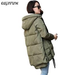 slim style army jackets 2019 - Wholesale-Free Shipping 2017 New Aarrivals Fashional Women jacket Hoody Long Style Warm Winter Coat Women Plus Size M~5X