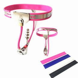 anal belts Australia - New Female Chastity Belt Stainless Steel Y-type Chastity Pants with Anal Bead Plug Invisible Lock Chastity Device Sex Toy for Women G7-5-59