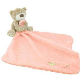 Care Bears Toys NZ - Infant Baby Nursery Toddler Soft Smooth Bath Cartoon Bear Toy Blanket Towel Baby Care Soft Towels with Bear Toy