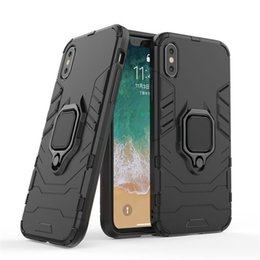 panther apple Canada - For iPhone XR XS Max 8 7 6 6s 5 5s Plus Case 360 Degree Rotating Ring Grip Kickstand Shockproof Mobile Phone Back Cover Case Black Panther