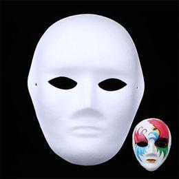 Handmade cHristmas gifts for cHildren online shopping - Diy Childrens Art Painting Masquerade Handmade Pulp White Mold Mask Creative Inspire Imagination Gift Unpainted Thicken Blank Masks xq jj
