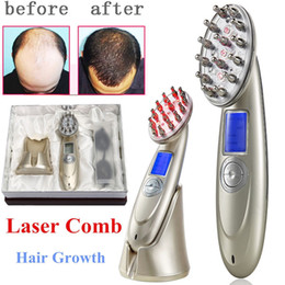 Hair growtH massager online shopping - Hair Growth Massager Beauty Equipment Combs Anti hair loss promotes hair growth for hair micro current EMS vibration massage comb