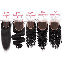 Body parts chinese online shopping - 10A Virgin Human Hair Lace Closure Unprocessed Brazilian Peruvian Malaysian Indian Body Wave Straight Loose Deep Kinky Curly Hair Closures