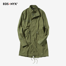 gothic trench coats 2019 - Eosnyx overcoat casaco masculino mens long jacket gothic male trench coat men gabardina hombre discount gothic trench co