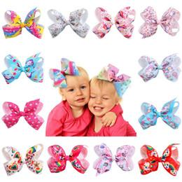 Girls satin bow hair clip online shopping - Unicorn Kids Hairpins Girls Bowknot Satin Ribbon Hair Clips Baby Colorful Bow Barrette Children Fashion Baby Hair Accessories