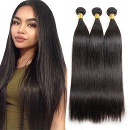 $enCountryForm.capitalKeyWord NZ - Brazilian Straight Hair Bundles Deals Natural Black 3 Pcs lot Unprocessed Cheap Brazilian Human Hair Bundles Best Quality 7a Virgin Hair