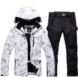 dce50d64b722ce -30 white Adult Women and Men Ski Clothing Snowboarding sets waterproof  windproof Breathable outdoor Snow suit jacket and belt pant Unsex