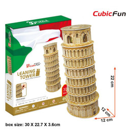 3d papers models 2019 - MC053H Leaning Tower CubicFun 3D puzzle Diy Paper Model architectural model Papercraft Home Adornment for christmas chea