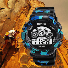 Men Digital Wrist Watches Australia - Zegarek Meskie Sports Watch Men Analog Digital Silicone Sport LED Waterproof Wrist Watches Woche Men Relogio Masculino