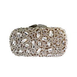 $enCountryForm.capitalKeyWord UK - Luxury Crystal Evening Bag Floral Clutch Bags for Womens Wedding Prom Dinner Party Crystal Clutches