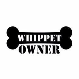 $enCountryForm.capitalKeyWord Australia - HotMeiNi Wholesale 20pcs lot 15CM*6.3CM Car Styling Whippet Owner Bone Fashion Car Stickers