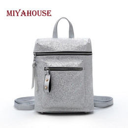 304e119fb87d Miyahouse Sweet Style Backpack For Female Fashion High Quality Rucksack For  Women Candy Color PU Leather Backpack Women