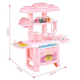 $enCountryForm.capitalKeyWord NZ - Lovely Girl Mini Play House Toy Girls Simulation Cooker Kitchen Toy Set Hot Sale Cutlery Model Set Gift for Kids