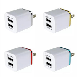 Wholesale New Dual USB A AC Power Adapter Wall Charger US Plug for mobile phone samsung galaxy note NEXUS tablet ipad