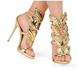 Cheap Nude Sandals UK - 2017new Top Brand Summer New Design Women Fashion Cheap Gold Silver Red Leaf High Heel Peep Toe Dress Sandals Shoes Pumps Women