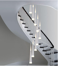 modern stairwell lighting. Regron Modern Long Led Cone Pendant Lights For Stairwell Salon Spiral Stair Stairway Dining Room Hanging Lamp Avize Lighting N