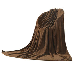 Chinese  Super Soft Warm Rug Luxury plush Fleece Throw Blanket, Suitable for Chair or Bed, Machine Washable brown 180 x 200 cm manufacturers