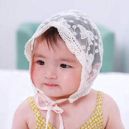 5pcs summer girl baby lace basin hat children hollow breathable fisherman  cap outdoor visor for 3-24 months children MZ04 84d903d6622d