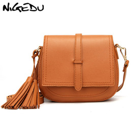 $enCountryForm.capitalKeyWord NZ - Fashion tassel women Crossbody Bag small brand design Small PU Leather Messenger Bags for Female Shoulder bag Ladies Saddle
