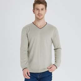 Woolen Knitted Clothes NZ - Man Sweaters Cashmere and Wool Knitting Pullovers Winter New Arrival Patchwork Fashion Jumpers Men Woolen Standard Clothes Tops