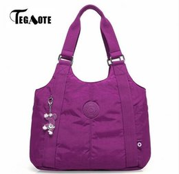 $enCountryForm.capitalKeyWord Canada - TEGAOTE Top-handle Bag Shoulder Luxury Handbags Women Bags Designer Nylon Beach Casual Tote Female Purse Sac Femme Bolsa Feminia D18102407
