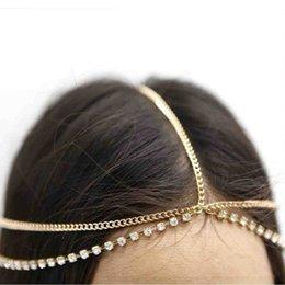 Boho Elegance Women Gold Bead Tassel Chain Hairband Headpiece Hairband Accessory