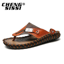 $enCountryForm.capitalKeyWord UK - Casual men sandals summer tide mens slippers rivet british man beach sandals genuine cow leather lazy pedal flip flop EU39-49