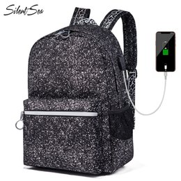 Discount school notebooks designs - Silentsea New Arrival Unisex Luminous Backpack Oxford Snowflake Design School Bag For Young Notebook Bags Fashion Daily