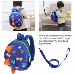 Anti-lost Kids Backpack with Pulling Rope Cute Cartoon Dinosaur Print Children  Bags for Boys Girl Kindergaden School Backpacks 5 colors bf82aea30e96f