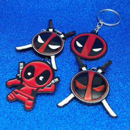 Discount super heroes face masks - Super Hero X Man Deadpool Keychain Deadpool Mask Figure Keychain Key Rings Fashion Jewelry Will and Sandy Drop Ship 3400