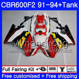 $enCountryForm.capitalKeyWord NZ - Body For HONDA CBR 600 F2 FS CBR600 F2 1991 1992 1993 1994 1MY.52 CBR600FS CBR 600F2 CBR600RR red yellow CBR600F2 91 92 93 94 Fairing kit