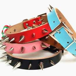 dog collars row UK - Single Row of Spikes Collar For Pet Dog Fashion Chain Pets Puppy Rivets Style Dogs Supplies Anti Bite Stylish Collar Free Ship