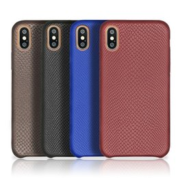 Hot Sales Iphone Case Australia - hot sale cell phone case ultra thin back cover Anti-slip wear-resistant snake skin PU leather case for iphone X 7 8 plus