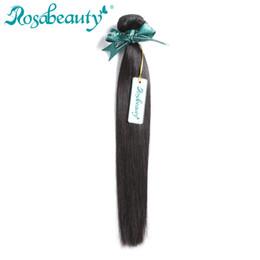 Brazilian Rosa Hair Products Bundles UK - Rosa Beauty Hair Products Brazilian Hair Weave Bundles Straight 100% Human Weft Remy Weaving Shipping Free