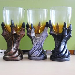 """Wholesale Beer Mugs Glasses Australia - 3D Game of Thrones Mug """"A Song Of Ice And Fire"""" Skull Dragon Claw Cup Dragon Glass Shot Cup Beer Glass Cup"""