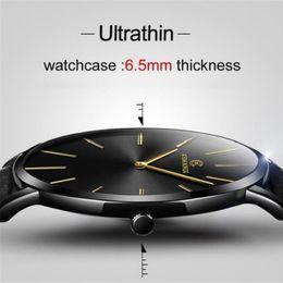 Discount thin wrist watches - Ultra Thin Fashion Men Quartz Watch KEMANQI Luxury Male Clock Business Simple Mens Leather Wrist Watches Relogio Masculi