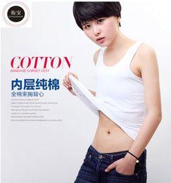 Ingrosso Geminbowl Flat Slim long Vest sport outdoor YOGA abbigliamento coon Chest / Breast Binder lesbian Undershirt corsetto Bustiers Tomboy
