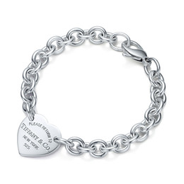 Chinese  High Quality Celebrity design Silverware bracelet Women Letter Heart-shaped Bracelets Jewelry With Box manufacturers
