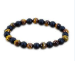 Vikings bracelet online shopping - 12pcs Tiger eye bracelet Black onyx bracelet African jewelry Viking jewelry for men bracelet Men gift