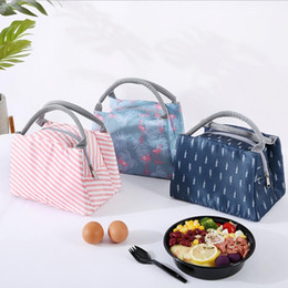 soft lunch coolers Canada - Insulated Lunch Bag Tote Bag Lunch Organizer Picnic Container Leakproof Travel Outdoor Soft Food Storage Cooler Bag Handbag for Adults Kids