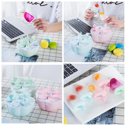 popsicle cartoon 2019 - 6pcs Creatived Ice Cream Popsicle Mold Cooking Tools Round Shaped Reusable DIY Frozen Ice Cream Pop Baking Moulds Cartoo