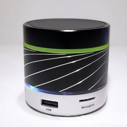 Portable Mp3 Amplifier Speaker Australia - S07U LED Light Portable Wireless Mini Bluetooth Speaker Subwoofer Metal Music Amplifier with FM Radio MP3 Player Support TF Card