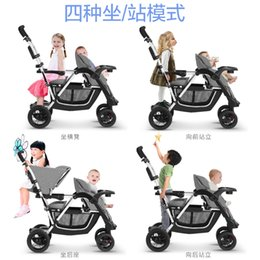 $enCountryForm.capitalKeyWord NZ - Twins Stroller Can Sit, Can Lie Big Small Treasure Double, With Pedals, Light Folding Trolley