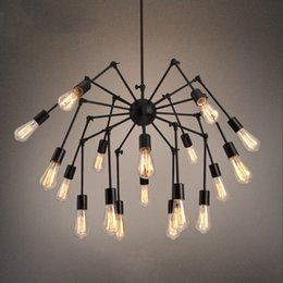 $enCountryForm.capitalKeyWord Australia - Creative spider Pendant Light retro bar E27 lamp 12 18 heads bar wrought iron pendant lamps For living room Clothing store G117